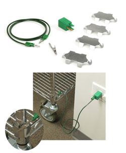 PGC-015Q Green Ground Cord  Qube